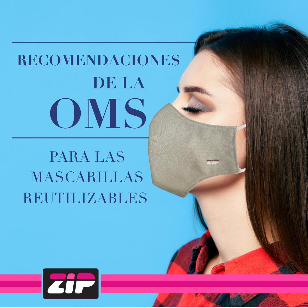 Recomendaciones de la OMS para las mascarillas reutilizables